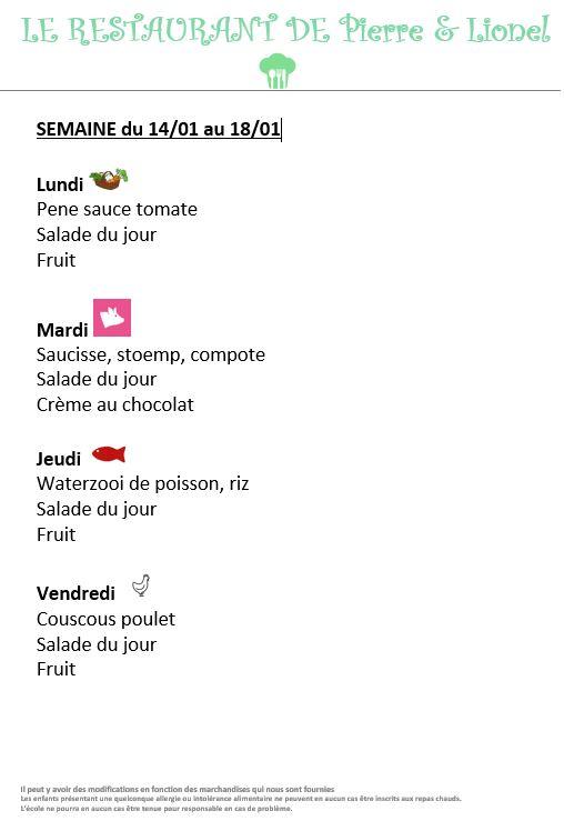 menus 14