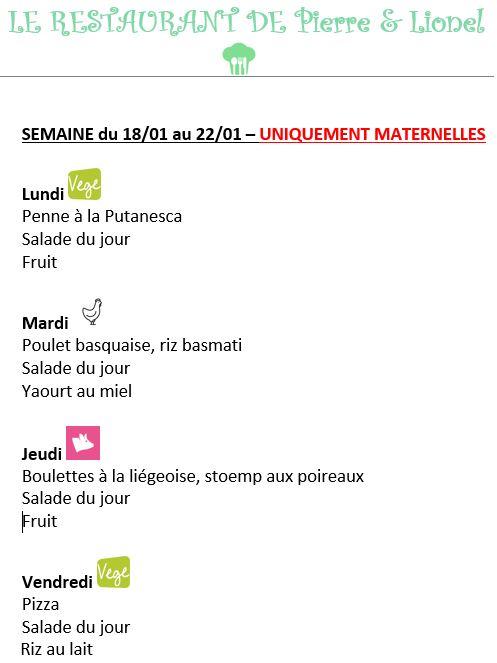 menus 18